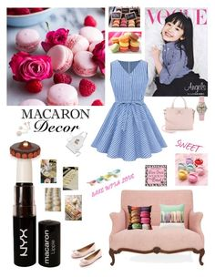 """SHE LOVES MACARON"" by adelinetaylor ❤ liked on Polyvore featuring NYX and Salvatore Ferragamo"