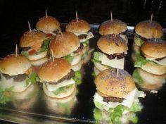 apéritif dinatoire mini hamburger maison