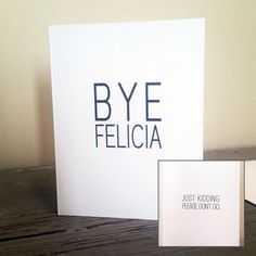 Bye Felicia Card Going Away Card Moving Away by FrankRegards Cheer Gifts, Gifts For Friends, Diy Gifts, Sister Gifts, Moving Away Parties, Moving Away Gifts, Goodbye Gifts, Goodbye Party, Going Away Cards