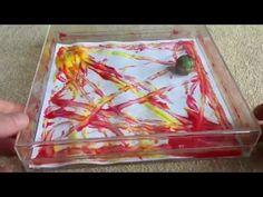 painting with a marble - YouTube