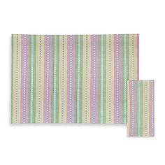 Garden Stripe Placemat and Napkins