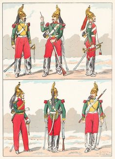 French; Dragoons, 1857 from Hector Large's Le Costume Militaire Vol III