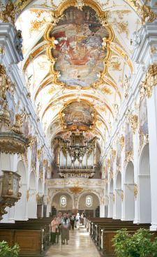 Regensburg - Can you imagine going to church in this beautiful place?  (Yes; I have been in such magnificent churches.  Spent a lot of time gawking at the beautiful artwork!)