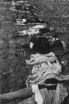 Russians in action. Murdered German civilians, Nemmersdorf massacre, East Prussia, 1944