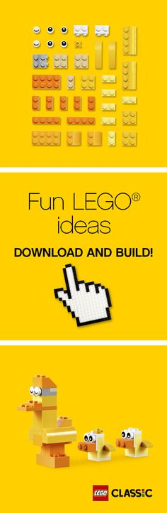 A fun idea for builders big and small - and a great idea for Mother's Day! Surprise someone special with this cute LEGO mother hen and her two chicks. Your family will love this festive gift or activity.