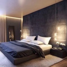 Awesome Detail Bedroom Design Ideas 3622 ration here from Industrial Interior I'd love to live here😍 Luxury Bedroom Design, Master Bedroom Interior, Modern Master Bedroom, Home Room Design, Master Bedroom Design, Home Decor Bedroom, Home Interior Design, Bedroom Loft, Luxury Interior