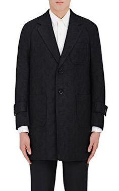 THOM BROWNE Jacquard Three-Button Topcoat. #thombrowne #cloth #topcoat