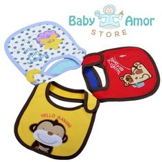 Amazon.com : Cute Baby Bibs - Unisex Soft Waterproof Drool Bibs Pack, Cotton Made With Velcro : Baby