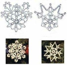 All About Crochet Crochet Snowflake Pattern, Crochet Stars, Christmas Crochet Patterns, Holiday Crochet, Crochet Snowflakes, Christmas Snowflakes, Crochet Winter, Christmas Crafts, Cute Christmas Gifts