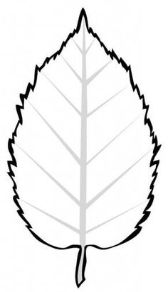 листья рисунок трафарет