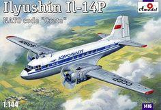 Ilyushin Il-14P. A Model, 1/144, injection, No.1416. Price: 14,68 GBP.
