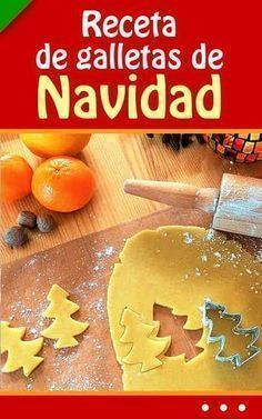 #receta de #galletas de #Navidad. ¡Fácil! #navideñas Best Christmas Cookies, Christmas Goodies, Christmas Time, Cookie Desserts, Cookie Recipes, Cake Cookies, Cupcake Cakes, Pan Dulce, Mini Cheesecakes