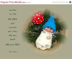 On SALE Elf Babies Polymer Clay Quote by Tolkien Elves by joyart, $4.25