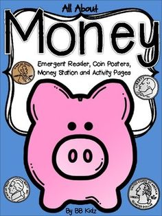 This unit is great for an introduction of money in Kindergarten.Included are posters of a description of each coin, a money station where the student will match the picture amount with the correct coins, an emergent reader and several math activity worksheets.