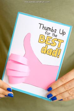 Father's Day Thumbs Up Card Idea for Kids