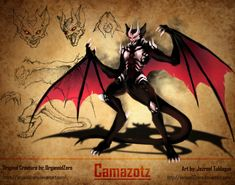 RWBY Bestiary (Apocryphal Records): Camazotz by on DeviantArt Monster Drawing, Monster Art, Bloodborne, Magical Creatures, Fantasy Creatures, Rwby Grimm, Fantasy Monster, Epic Art, Black And White Drawing