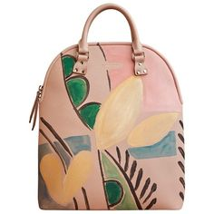 Burberry The Bloomsbury in Hand-painted Leather (€3.550) ❤ liked on Polyvore featuring bags, handbags, tote bags, purses, burberry, accessories, leather handbags, leather handbag tote, leather purses and purse tote