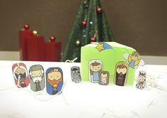 Presépio de Natal para crianças: Imprima, recorte e monte em casa