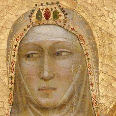 ASSUMPTION OF THE VIRGIN DETAIL, circa 1338, Bernardo Daddi (Italian, ca.1290–1348), tempera on wood, gold ground