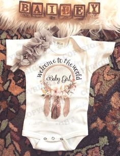 Welcome to the World Baby Girl-Bohemian Baby- Newborn Shirt - Hospital Outfit - Coming Home Outfit - Native Shirt - Boho Baby - Boho Onesie Source by Clothing girl The Babys, Baby Outfits, Newborn Girl Outfits, Hippie Chic, Hippie Baby, After Baby, Cute Baby Clothes, Bohemian Baby Clothes, Babies Clothes