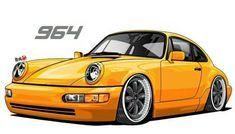 Porsche 964 illustration #Porsche