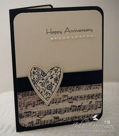 Black and white/anniversary-or Valentine card-,maybe with Happy Birthday for a birthday card?