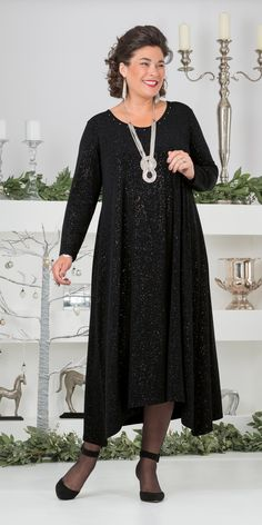 Kasbah black jersey glitz dress
