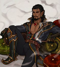 Wrathion Changed A Lot During Summer by Ammatice : ImaginaryAzeroth Character Creation, Character Concept, Character Art, Concept Art, Character Ideas, Elf Characters, Black Characters, Fantasy Characters, Fantasy Races