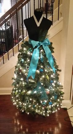 """Angela Page Hawkins shared one of her dazzling Diva Trees -- """"Peacock Princess"""" -- on Facebook. / pinned with permission http://on.fb.me/1IS69CI"""