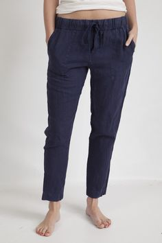 our favorite shape pants from enza costa. super comfy linen pant with cotton drawstring. so easy & so perfect for warm weather days. love.
