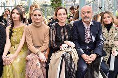 Emily Ratajkowski Olivia Palermo Kristin Scott Thomas Christian Louboutin and Miroslava Duma attend the Valentino show as part of the Paris Fashion Week...