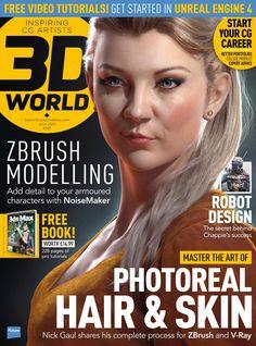 #3D World Magazine 194. #Photoreal hair & skin. #Zbrush #modelling!