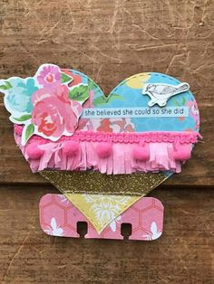 Fringe heart Atc Cards, Journal Cards, Paper Cards, Mini Scrapbook Albums, Scrapbook Paper Crafts, Mini Albums, Art Trading Cards, Heidi Swapp, Candy Cards