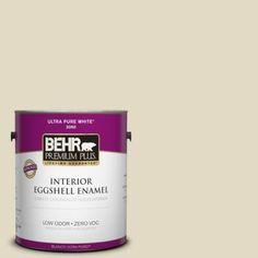 BEHR Premium Plus 1-gal. #770C-2 Belvedere Cream Zero VOC Eggshell Enamel Interior Paint-240001 - The Home Depot