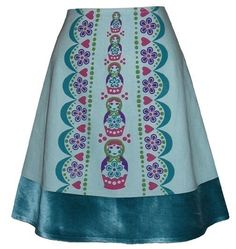 matryoshka skirt  aquamarine  russian by madewithlovebyhannah, $68.00  @Emmi Rose