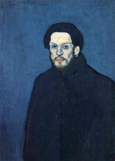 Pablo Picasso, Self-Portrait, 1901, oil on canvas, 81 x 60 cm, Musée Picasso, Paris, France