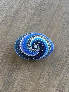 Painted stone -  Painted rock -  Mandala Stone -  Spiral  Galaxy