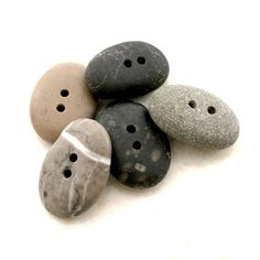 OCEAN - Authentic Beach Stone BUTTONS - Knitting-Craft-Artisan Supplies, Diy by StoneAlone