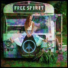 ☮ American Hippie Bohéme Boho Style ☮ Free Spirit
