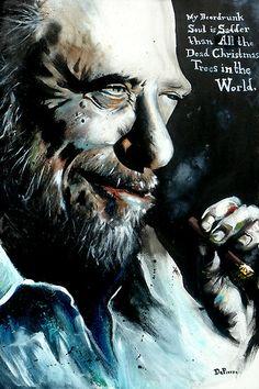 Bukowski by Daniel DePierre/REDBUBBLE.COM **http://bukowski.net/timeline/**