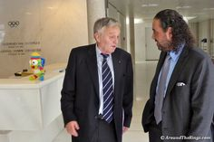 FIS president Gian-Franco Kasper and ANOC president Sheikh Ahmad chat in IOC lobby. Olympics, Presidents, Photo Galleries, Buenos Aires