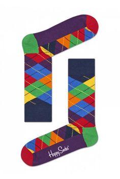 Happy Socks Argyle Socks - Navy