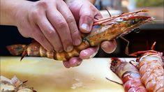Japanese Street Food - GIANT TIGER SHRIMP Spicy Chili Prawns Japan Seafood - YouTube Hot Sauce Recipes, Prawn Recipes, Raw Food Recipes, Seafood Recipes, Cooking Recipes, Giant Tiger Prawns Recipe, Tiger Shrimp, Champion Chili Recipe, Healthy Chicken Chili Recipe