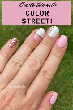 Pink Chevron Nails, Yellow Nails, Nail Color Combos, Nail Colors, Manicure Ideas, Nail Ideas, Nail Tape, Party Nails, Daily Nail