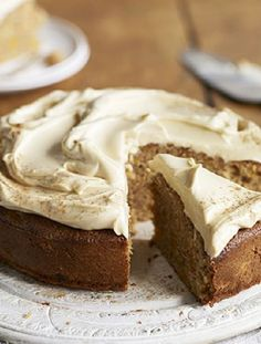 Apricot, cinnamon & olive oil cake (with spelt flour and cream cheese frosting) :: BBC Good Food Gluten Free Cakes, Gluten Free Baking, Gluten Free Desserts, Dairy Free Recipes, Cake Recipes Bbc, Bbc Good Food Recipes, Baking Recipes, Dessert Recipes, Cafe Recipes