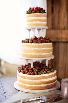 Strawberry Shortcake Wedding Cake