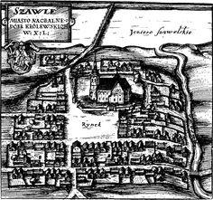 Šiauliai Szawle old map