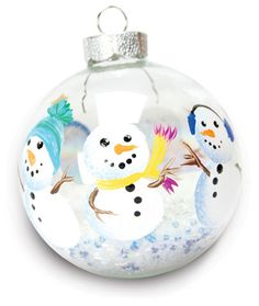 Snowman Ornament with Beads project from DecoArt