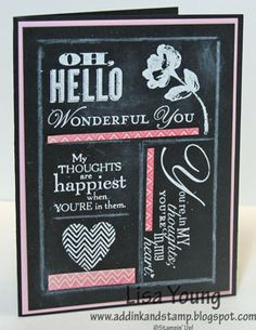 Add Ink and Stamp: A Chalkboard Card