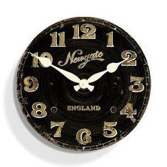 The Jenson Clock Newgate - Shabby Chic Clocks Shabby Chic Clock, Clocks, Wall, Kitchen, Lounge, Live, Home Decor, Airport Lounge, Cucina